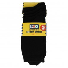 Socks Ankle 5 Pair Pack - Black